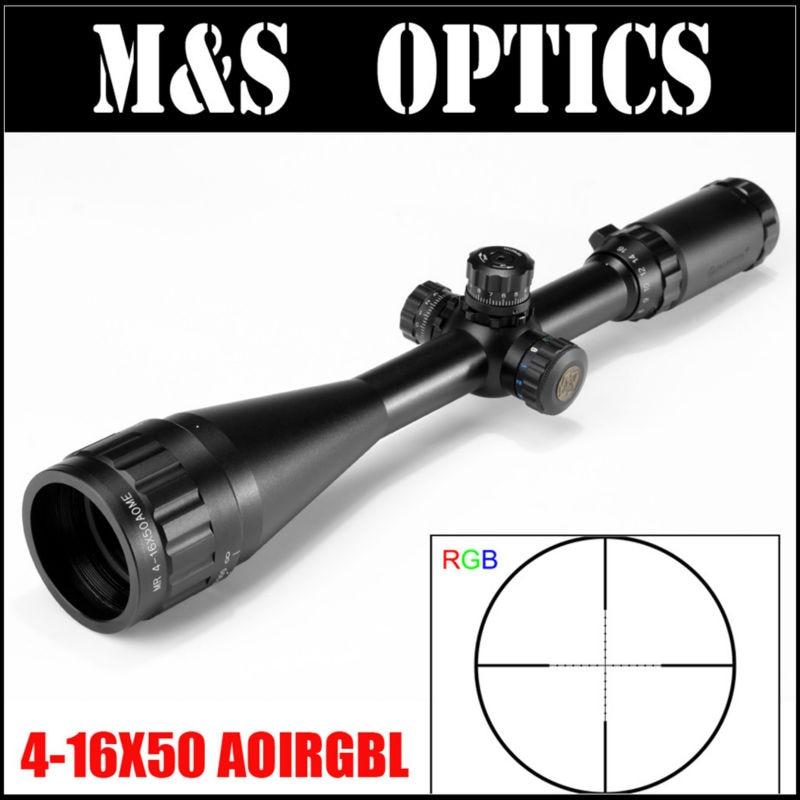 Special Offer! MARCOOL EST 4-16X50 AOIRGBL Mil Dot Reticle Airsoft Air Guns Optics Sight Hunting Riflescope For Rifles Gun