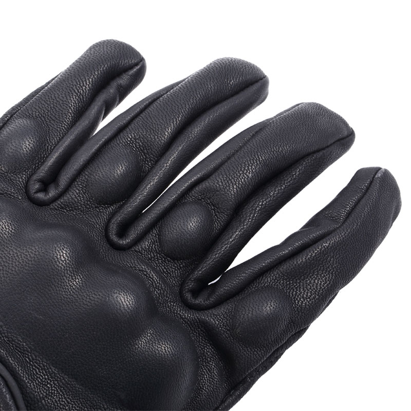 Image 4 - Retro Motorcycle Gloves Pursuit Perforated Real Leather Leather Touch Screen Men Women Moto Waterproof Gloves Motocross Glove-in Gloves from Automobiles & Motorcycles