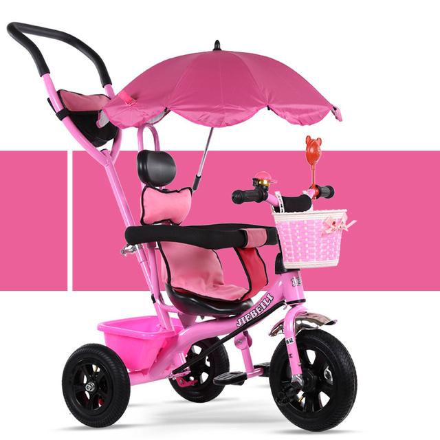 Moda de Nova Crianças Bebê Triciclo Toldo Toldo Carro Guarda-chuva Do Bebê 1-6 Anos de Idade da Criança Crianças Bicicleta Carrinho De Bebê 3 em 1