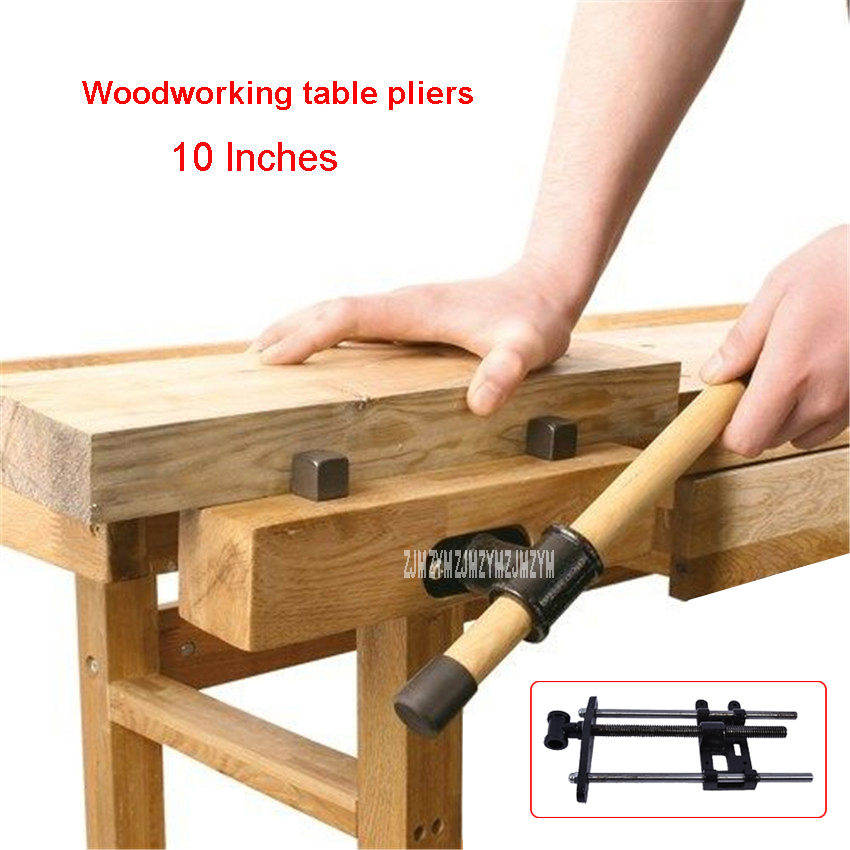 10 Inches Workbench Table Bench High Vise Pliers Wooden Pliers Clamping Width 20cm Cast Iron Material Woodworking Table Clamp