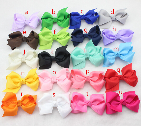 2 75 Inch Cheap Ribbon Boutique Hair Bows For Children