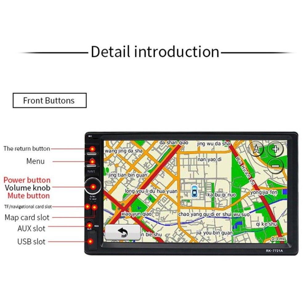 Профессиональный 7 дюймовый HD 1024*600 емкостный экран 7 цветной светильник с функцией автомобильного dvd плеера Европейская Карта - 4
