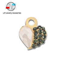 Crystal heart-shaped Zinc Alloy Pendant handmade Jewelry Making for DIY Bracelet Necklace Earring Findings & Components Material movable skeleton shaped zinc alloy pendant necklace bronze
