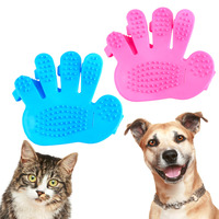 Dog Cat Rabbit Pet Puppy Bath Grooming Brush Massage Glove Beauty Care Brush Cats Generic Massage