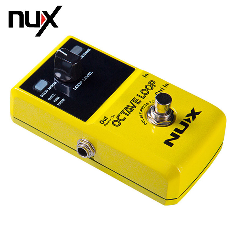 NUX Octave Loop Looper Pedal -1 Octave Effect Infinite Layers with Bass-Line True Bypass 3 Modes Guitar Parts Free Shipping loop true bypass guitar effect pedal looper switcher blue loop switch pedal musical instrument part access