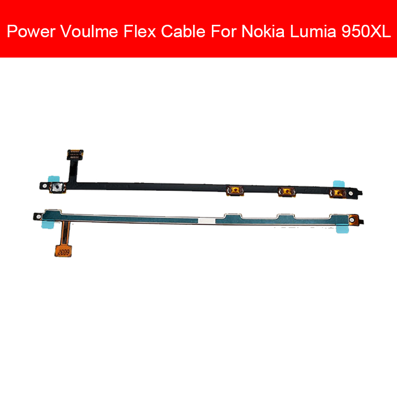 Power ON / OFF Side Button Flex Cable For Nokia Lumia 950XL RM-1118 Power Switch Button Flex Ribbon Repair Replacement Parts image