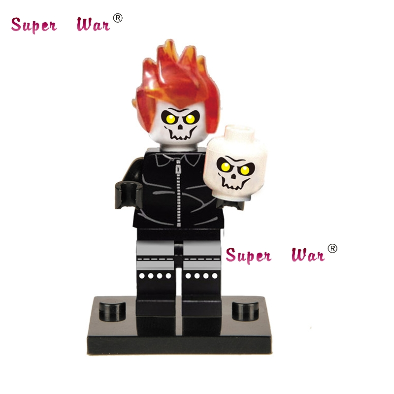 20pcs star wars superhero marvel Ghost Rider building blocks action figure bricks model educational diy baby toys