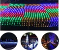 3m*2m  200 LED Net Mesh Fairy String Light garland Christmas Wedding Party decoration String Light 8 Function Controller 90-220V