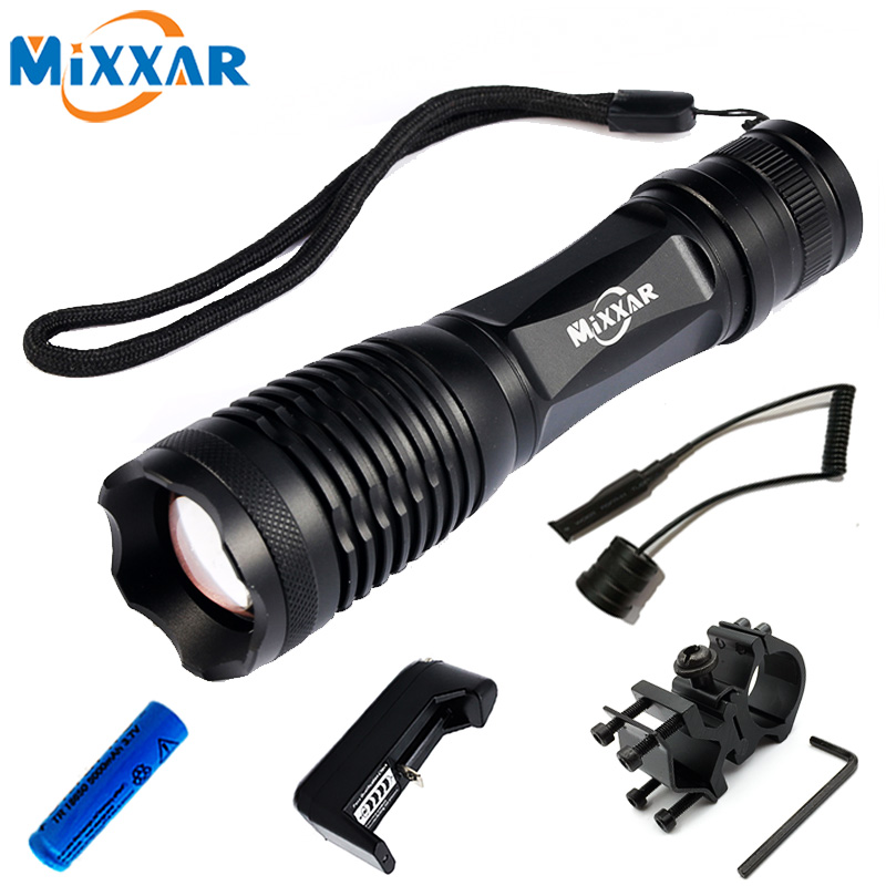 ZK25 LED Tactical Flashlight 4000 Lumens CREE XM-L T6 Zoomable 5 Modes Aluminum Lanterna LED Torch Flashlights For Hunting ruzk40 led flashlight v5 cree xm l t6 5000lumens 5 modes zoomable torch tactical flashlight waterproof camping hunting lamp