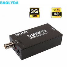 Baolyda SDI to HDMI Converters SDI/ HD-SDI 3G-SDI to HDMI 720p/1080p Adapter Video Converter with Embedded Audio(China)