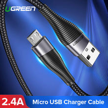 Ugreen Fast Charge Micro USB Cable Xiaomi Redmi Note 5 Pro 4 Andriod Mobile Phone Charging Data Cable for Samsung S7 Micro usb(China)