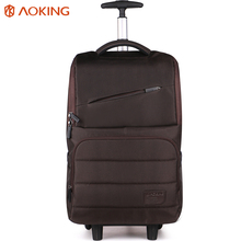 Aoking Nylon Waterproof Travel Luggage Trolley Backpack Women Men Lightweight Luggage Bag for Laptop Roll Wheeled Trolley Bags