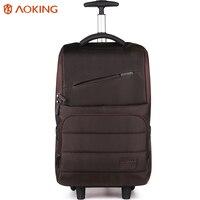 Aoking Nylon Waterproof Travel Luggage Trolley Backpack Women Men Lightweight Luggage Bag For Laptop Roll Wheeled
