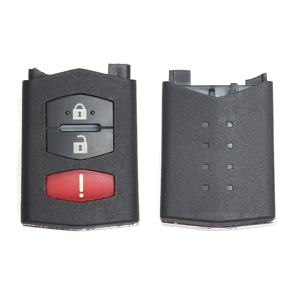 Keyecu Replace Flip Shell Remote Key Case Fob 3 Button For Mazda 3 5 6 RX8 CX5 CX7 CX9