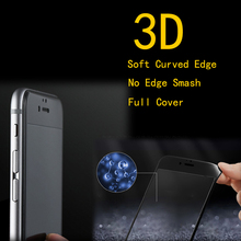 50pcs/lot FENGHEMEI 3D Cabon Fiber Frame Full Cover Tempered Glass Protector For iPhone 6 6s Plus Without Retail Package