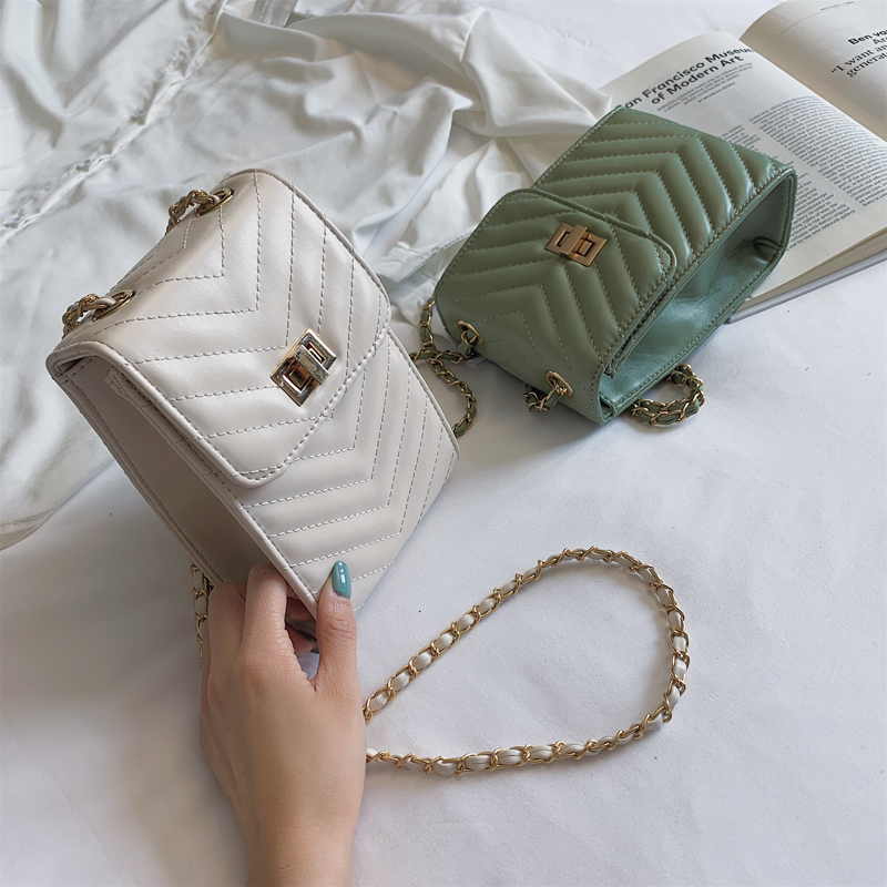 Fashion Summer Women 39 s Chain Shoulder Bag Luxury PU Leather Bags Ladies Crossbody Bags Girl Mobile Phone Bags Handbag in Shoulder Bags from Luggage amp Bags