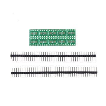 10 sztuk elektroniczny obwód TSSOP8 SSOP8 SOP8 SMD do DIP8 Adapter do DIP + głowica pinowa płytka drukowana konwerter podwójne boki 0.65mm/1.27mm