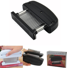Meat Tenderizer Needle Stainless Steel Meat Tenderizer with 48 Blade Kitchen Gadget Cooking Tools Accessories NHT059