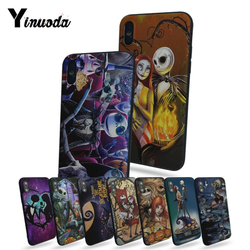 Nightmare Before Christmas Phone Case.Us 1 15 39 Off Yinuoda Jack Skellington And Sally The Nightmare Before Christmas Phone Case For Iphone X 8 8plus Black Case Cover 7 7plus 6 6s In