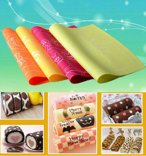 cake decorating 4pcs lot swiss rolls silicone stamp pad 4 kinds