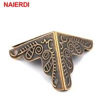 30PCS NAIERDI 3.6×2.4cm Luggage Case Box Corners Brackets Decorative Corner For Furniture Decorative Triangle Rattan Carved