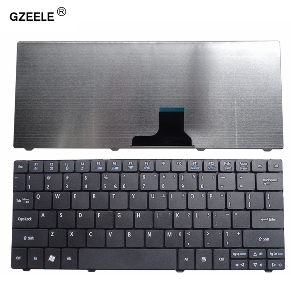 GZEELE New US Keyboard for ACER Aspire One 751 ZA3 752 753 722 721 1410 Laptop keyboard English BLACK new us keyboard for acer aspire vn7 793g vx5 591g vx5 591g 52wn us laptop keyboard with backlit