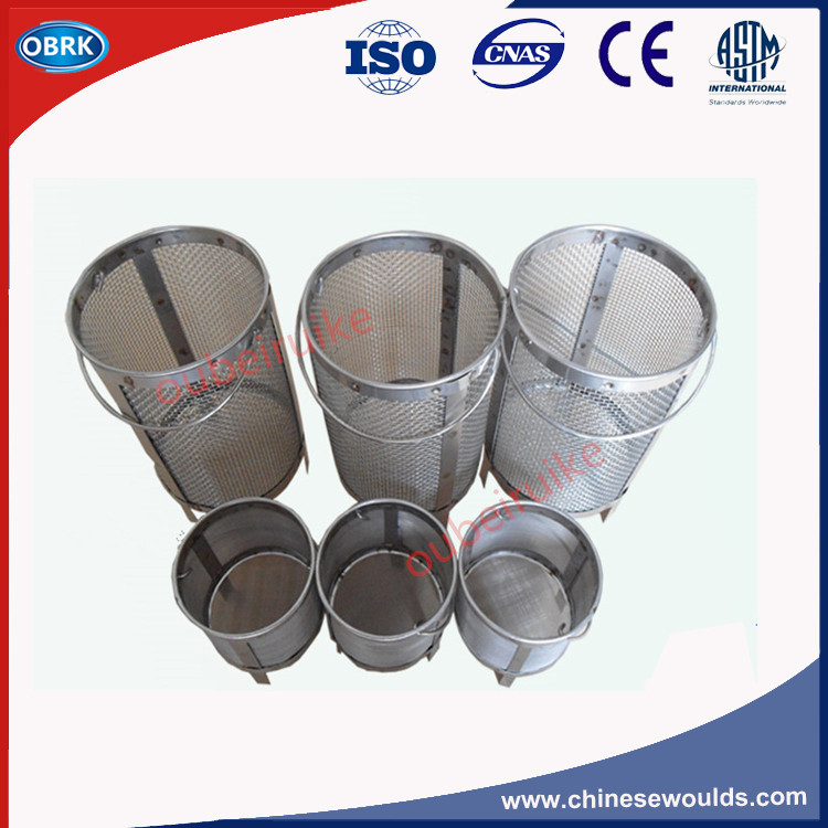 70mm Diameter 0.15mm hole Coarse Aggregate Specific Gravity Test Stainless steel wire density basket