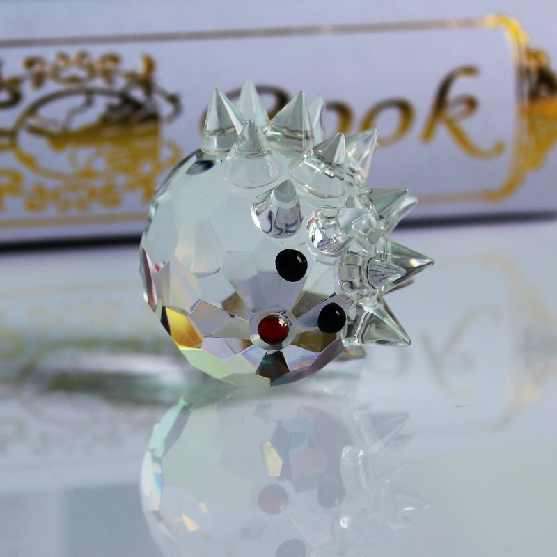 XINTOU Crystal Glass Animals Ոզնին Նկարներ - Տնային դեկոր - Լուսանկար 4