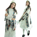 2016 Autumn Winter Vintage Mori Girl Long Knitted Cardigan with Tassel Fringed Women Ethnic Patterns Ponchos and capes
