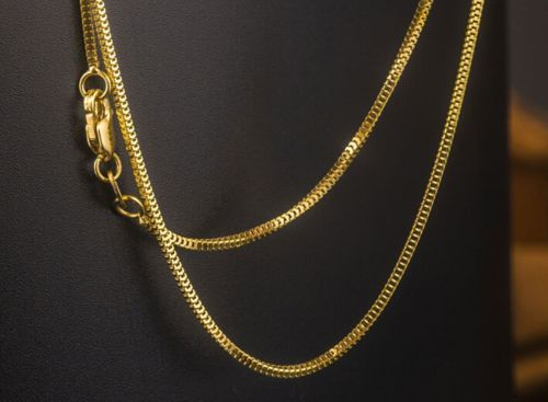 New Pure Au750 18K Yellow Gold Women's Milan Box Chain Necklace 20inch 3