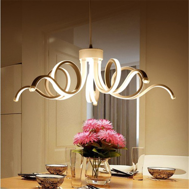 2017 New Design Modern Pendant Lights For Living Room Dining Kitchen Acrylic Body Hanging