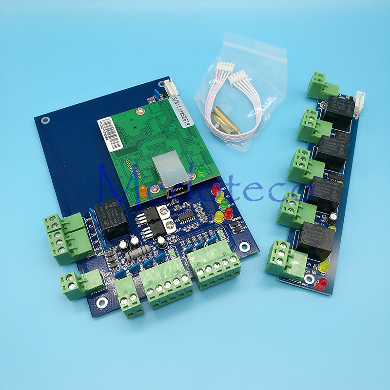 Best Quality TCP/IP rfid Access Control System one Door Two way Rfid Door Access Control Panel Board + Alarm Expansion Board tcp ip network l04 intelligent four door one way door access control panel for four door control support english software
