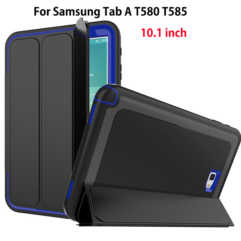 Shockproof Kids Safe Case For Samsung Galaxy Tab A A6 10.1 2016 SM-T580 T585 Case Smart Cover Funda Tablet Sleep Protector Shell fashion pu leather flip case for samsung galaxy tab a a6 10 1 2016 t580 t585 sm t580 smart case cover funda tablet sleep wake up