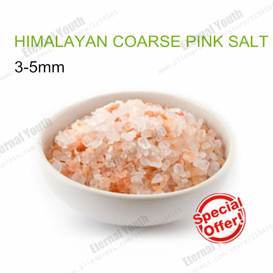 3-5mm HIMALAYAN COARSE CRYSTAL PINK SALT GOURMET KOSHER NATURAL PURE 50grams