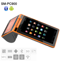 Android Mini POS Terminal with Printer All in One Android Restaurant Touch Screen POS System SM-PC900