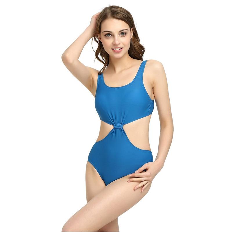 S-XL BLUE 2017 New Arrival One Piece Swimsuit Women Vintage Bathing Suits Plus Size Swimwear Beach Padded big chest Swimwears anne klein new blue black women s size small s button down back blouse $59
