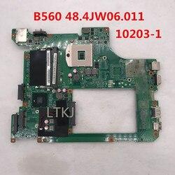 Haute qualité pour carte mère d'ordinateur portable B560 10203-1 LA56 MB 48.4JW06.011 HM55 DDR3 100% testé