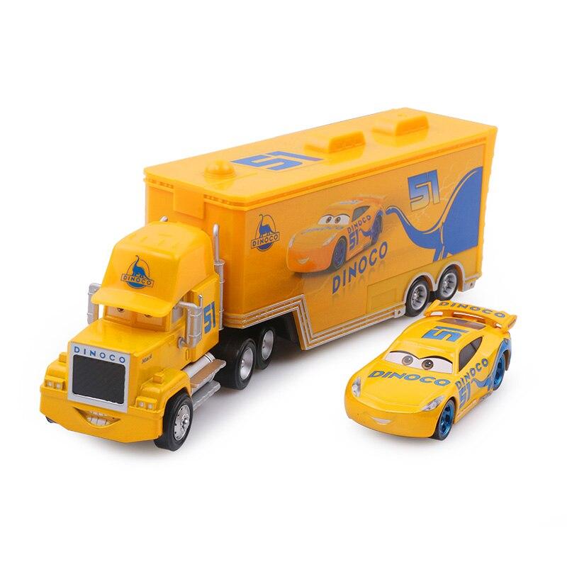 Дисней Pixar Тачки 2 3 игрушки Молния Маккуин Джексон шторм мак грузовик 1:55 литая под давлением модель автомобиля для детей рождественские подарки - Цвет: Two cars 12