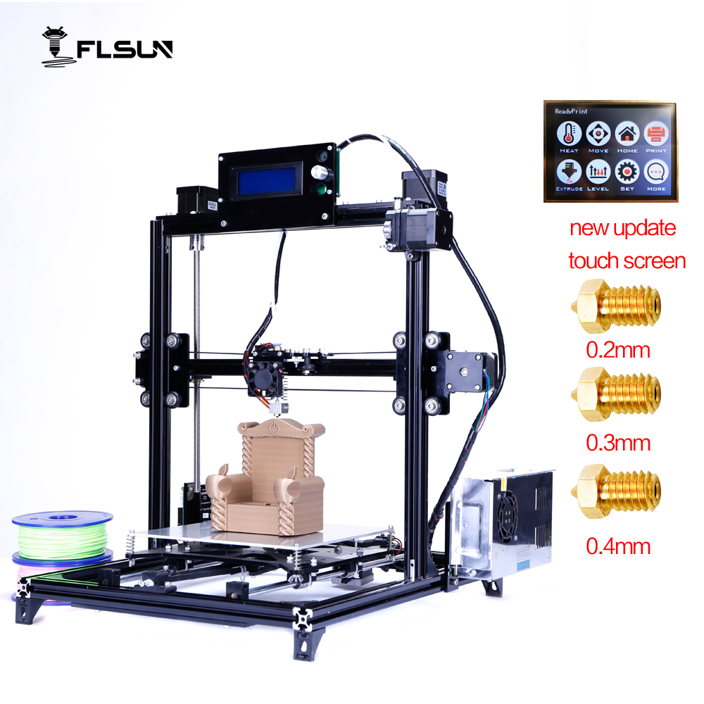Flsun 3D Printer  I3 Dual extruderKits Auto-leveling Aluminum Frame  Large 3D Printing Size Heated Bed Two Rolls Filament ship from european warehouse flsun3d 3d printer auto leveling i3 3d printer kit heated bed two rolls filament sd card gift