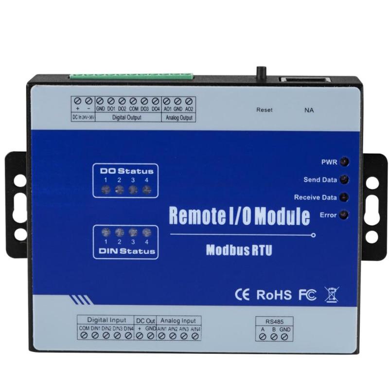 M120 Modbus Remote IO Module Data Acquisition Module(4DI+4DO+4AI+2AO) Inbuilt Watchdog 4 Sink OutputM120 Modbus Remote IO Module Data Acquisition Module(4DI+4DO+4AI+2AO) Inbuilt Watchdog 4 Sink Output