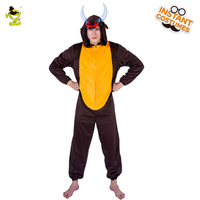 Unisex Adult Bull Pajamas Cosplay Man Costume Animal Sleepsuit Costume Adult Macho Cattle Men Role Play Party Fancy Jumpsuit