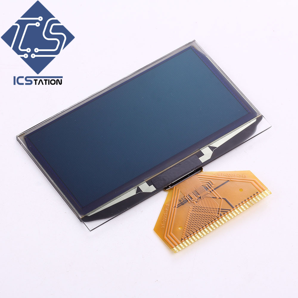 White 2.42 2.42in OLED Display Module 128x64 SSD1309 Display Screen For Arduino 51 STM32 1 3 inch 128x64 oled display module blue 7 pins spi interface diy oled screen diplay compatible for arduino