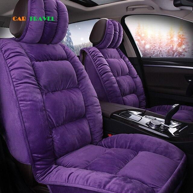 Car Seat Covers Faux Fur Cute Winter New Plush For Mazda 3 6 CX 5