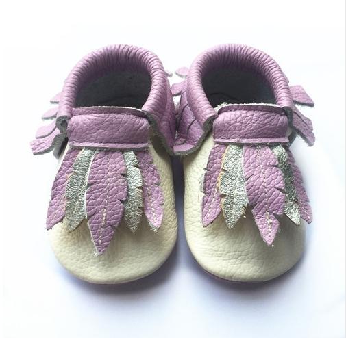 Venta caliente 100% hojas genuina mocasines de cuero del bebé primeros caminante Recién Nacido Niño Niña Bebe Suaves únicos zapatos de bebé zapatos de Los Niños