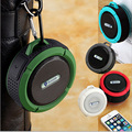 Mini C6 Portátil À Prova D' Água Bluetooth Speaker com Microfone & Ventosa para Esportes/Chuveiro/bicicleta Ao Ar Livre Speaker/Camping Speaker