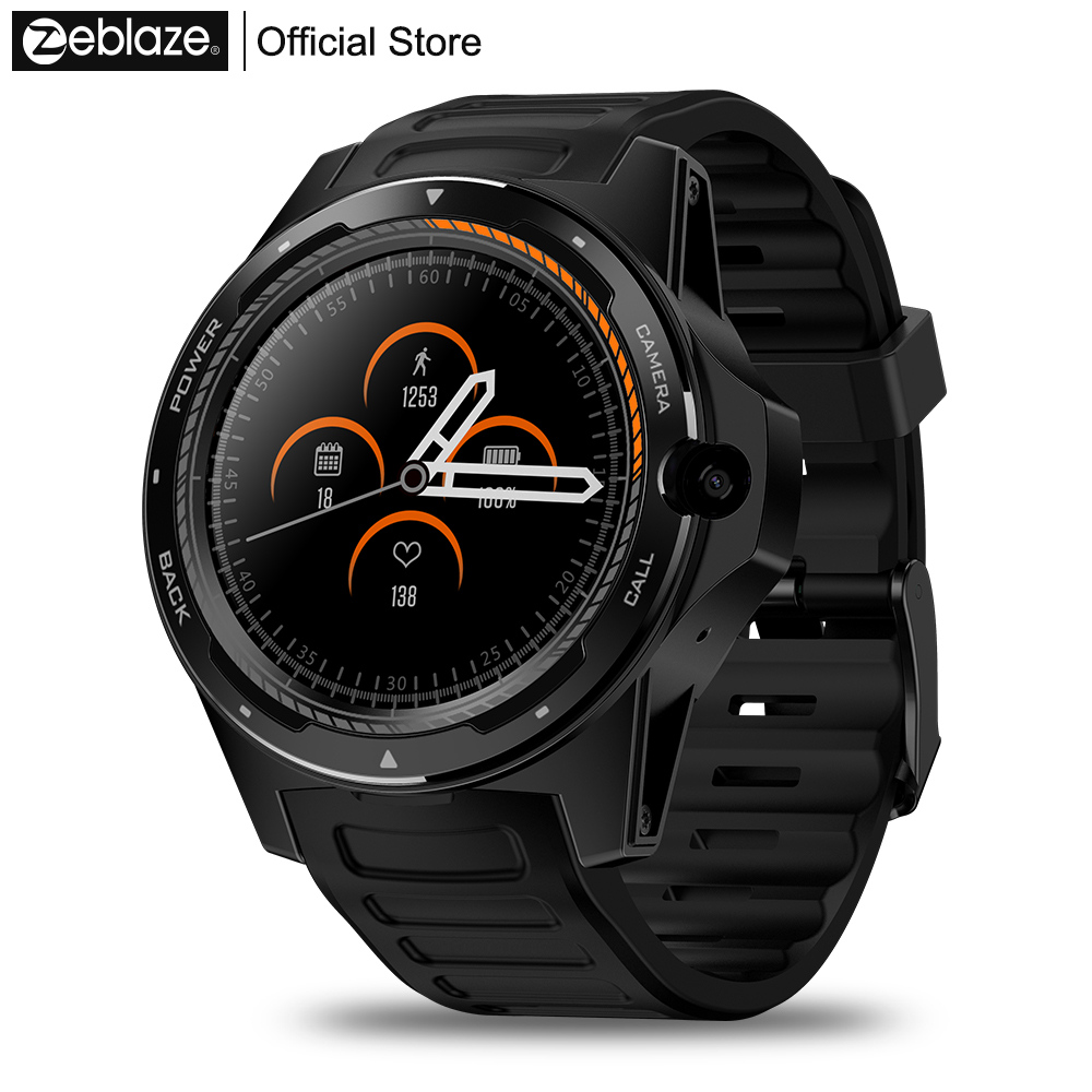 Nouveau phare Zeblaze THOR 5 double système Smartwatch hybride 1.39 AOMLED écran 454*454 p x 2 GB + 16 GB 8.0MP caméra frontale montre intelligente