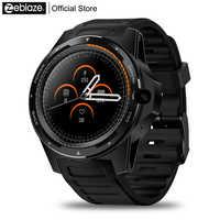 """Nouveau phare Zeblaze THOR 5 double système Smartwatch hybride 1.39 """"AOMLED écran 454*454 p x 2 GB + 16 GB 8.0MP caméra frontale montre intelligente"""