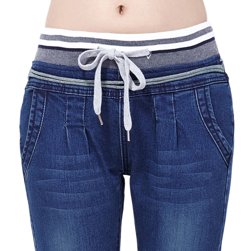 Spring Summer Skinny Pencil Women Jeans Elastic Waist Slim Long Jeans For Women European Style Solid Ladies Female Pants