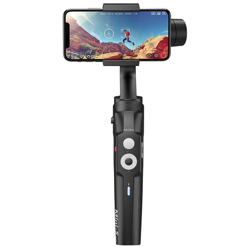 MOZA Mini S складной 3 х осевой ручной шарнирный стабилизатор для камеры для IPhone X samsung S8 huawei P30 смартфон GoPro - 2