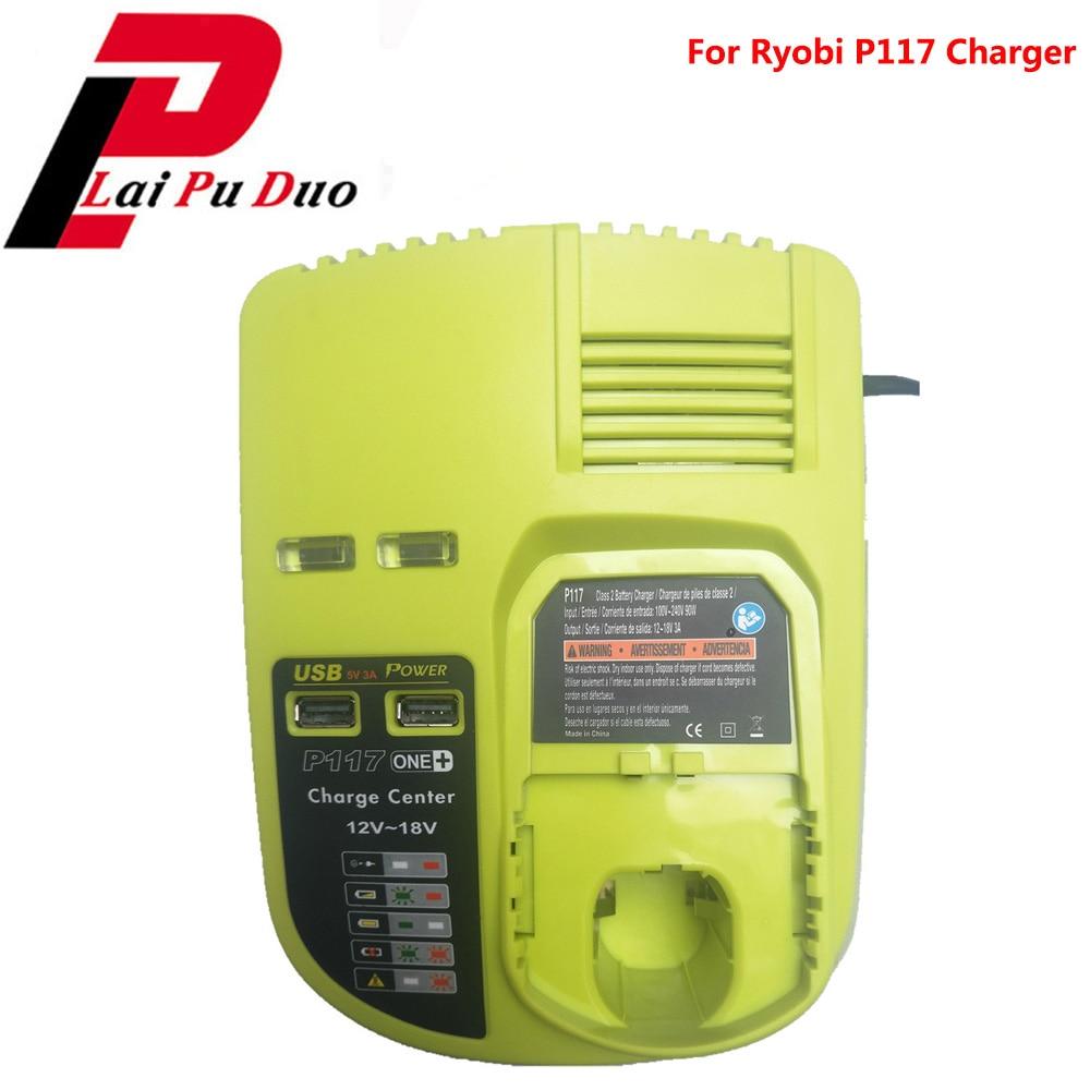 3A 12 V 14.4 V 18 V pour Ryobi P117 chargeur de batterie Rechargeable batterie Pack outil électrique ni-cd Ni-Mh Li-Ion P110, P111, P107, P108